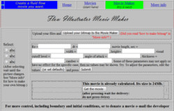 Old website movie maker form view